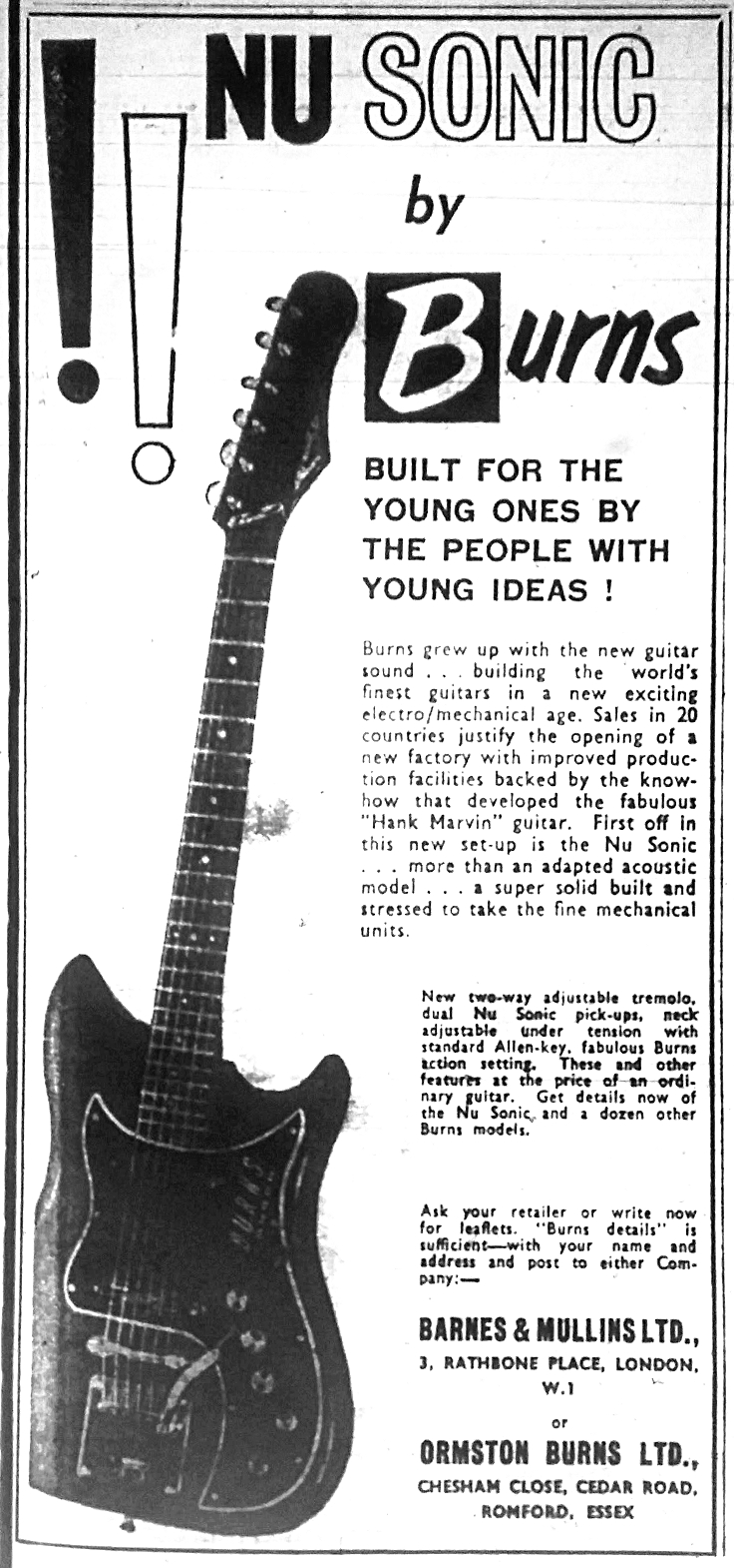 Burns Nu Sonic Guitar \u0026 Bass Reference Page Teisco Guitar Wiring Diagram Burns Guitar Wiring Diagram